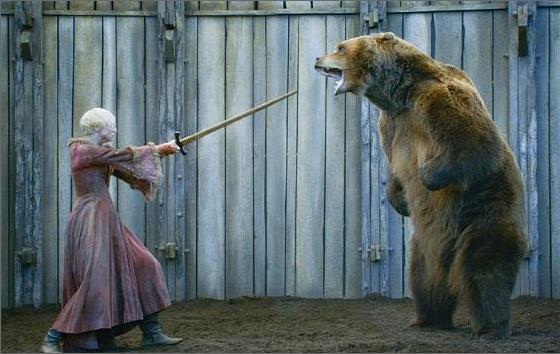 Бриенна и медведь