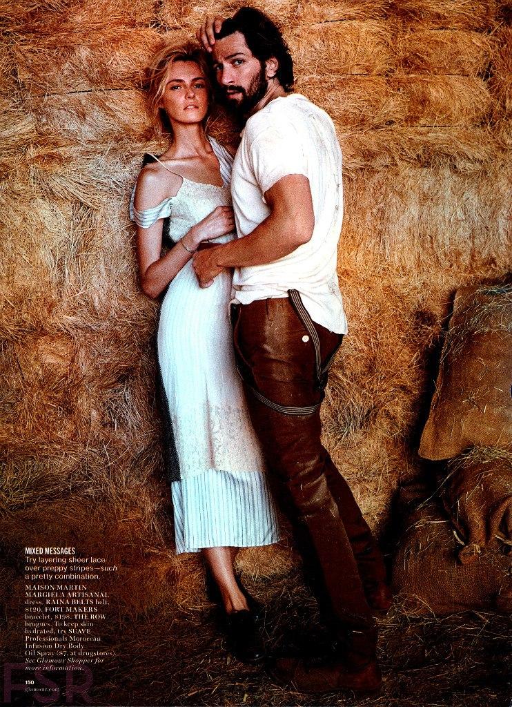 Валентина Зеляева и Михиль Хаусман в фотосессии для Glamour US — август 2014