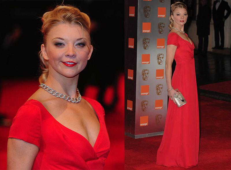Натали Дормер лучшие образы красной дорожки 2005-2013 красное платье