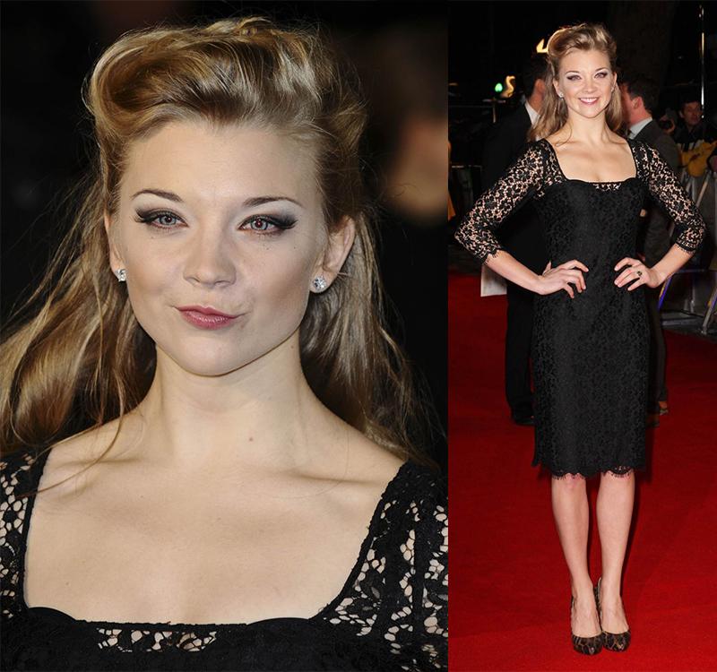 Натали Дормер лучшие образы красной дорожки 2005-2013 черное платье