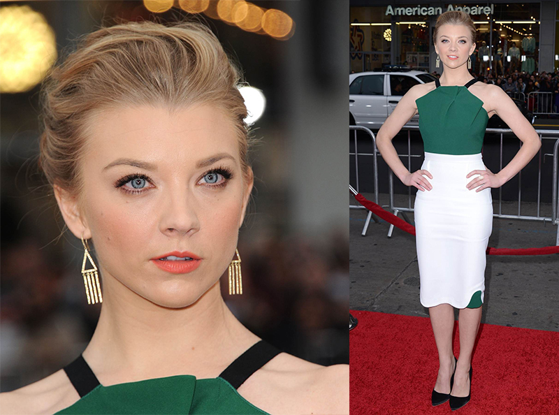 Натали Дормер лучшие образы красной дорожки 2005-2013 платье белое с зеленым