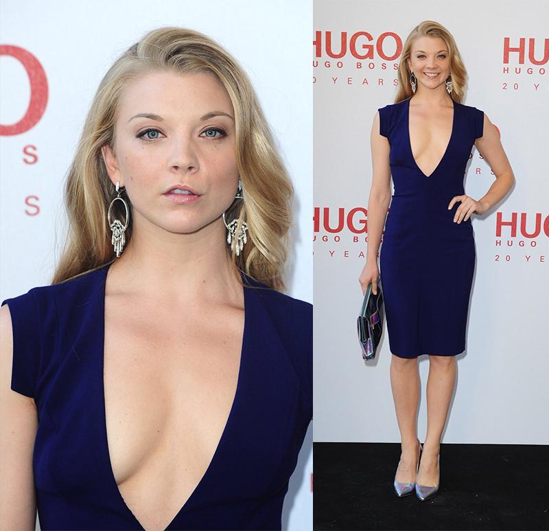 Натали Дормер лучшие образы красной дорожки 2005-2013 синее платье