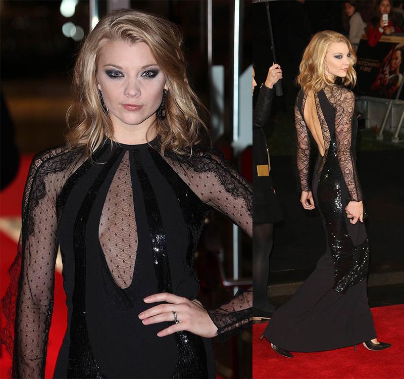 Натали Дормер лучшие образы красной дорожки 2005-2013 черное длинное платье