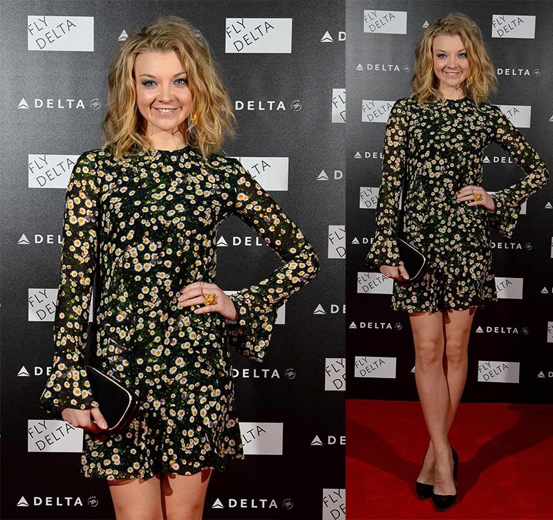 Натали Дормер лучшие образы красной дорожки 2005-2013 платье с ромашками