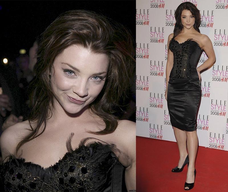 Натали Дормер лучшие образы красной дорожки 2005-2013 черное серое платье