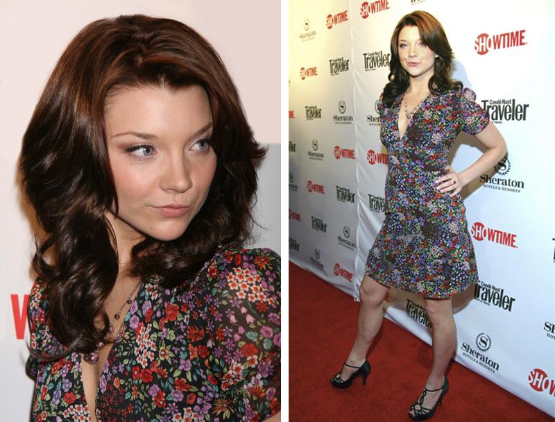 Натали Дормер лучшие образы красной дорожки 2005-2013 цветочное платье