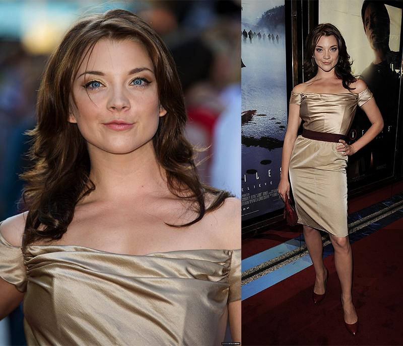 Натали Дормер лучшие образы красной дорожки 2005-2013 бежевое платье