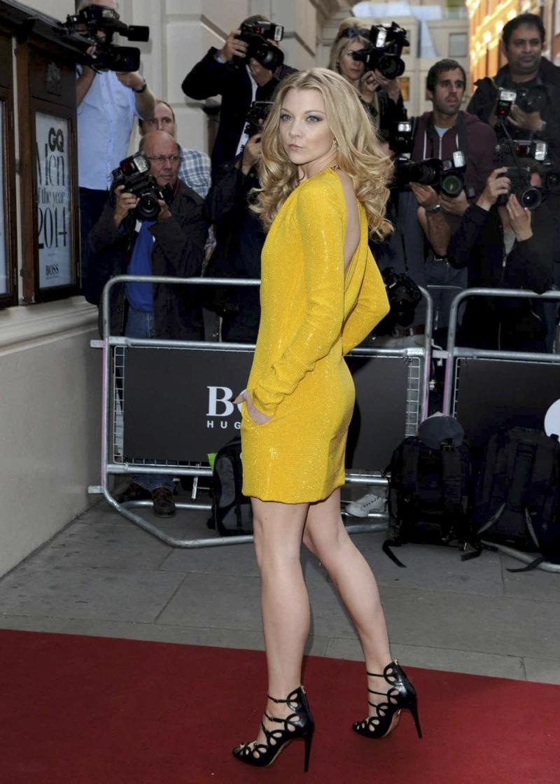 Натали Дормер в желтом платье GQ Men of the Year 2014 awards фото