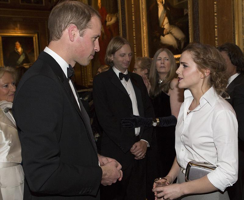 принц Уильям и Эмма Уотсон