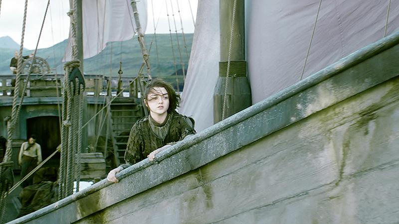 Арья уплывает в Браавос