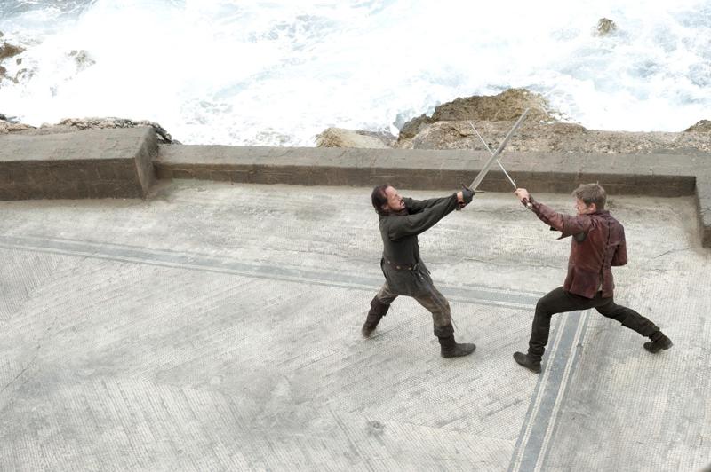 Джейме Ланнистер тренируется с Бронном
