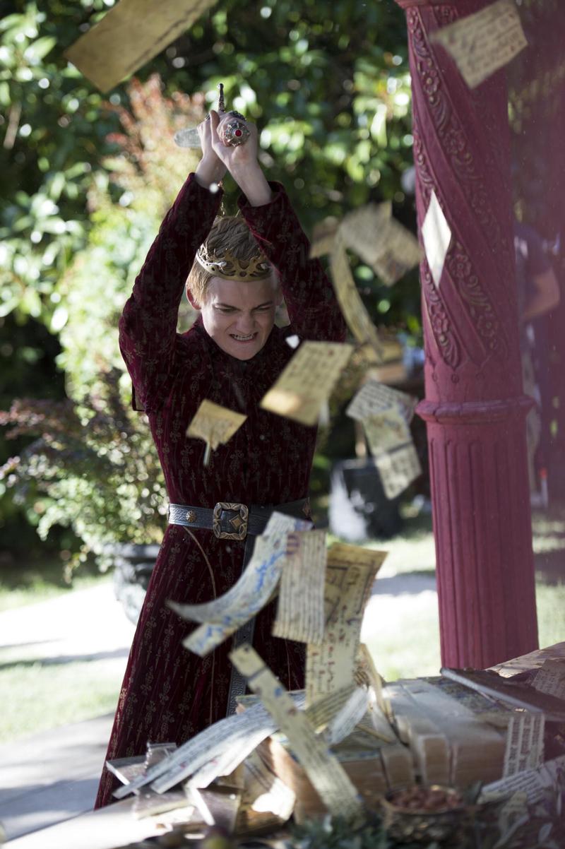 Король Джоффри разрубает книгу