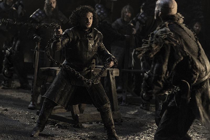 Джон Сноу сражается со Стиром Игра Престолов