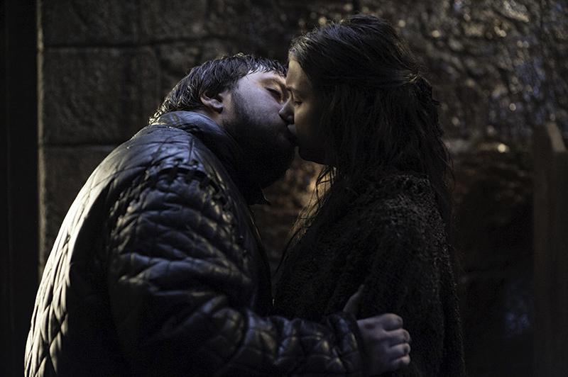 Сэм целует Лилли Игра Престолов