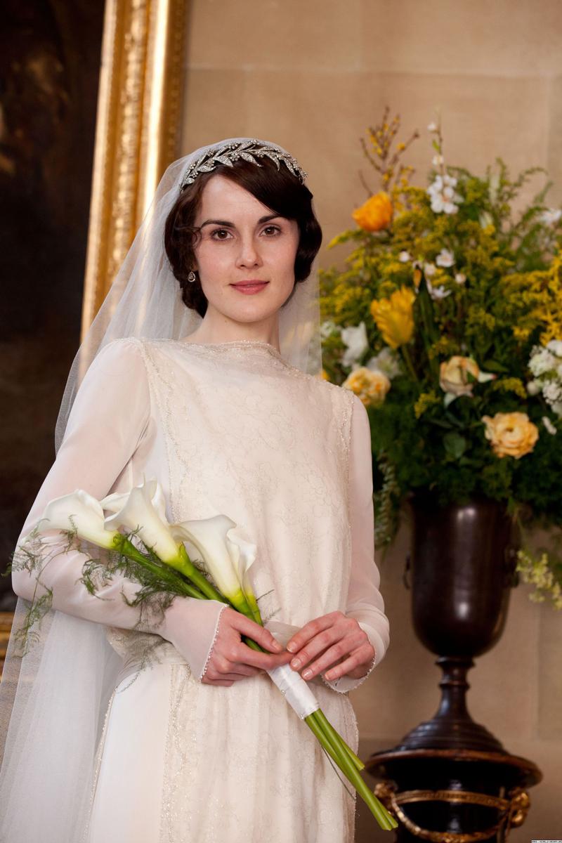 фото Мишель Докери Мэри Кроули Аббатство Даунтон свадьба с Мэтью