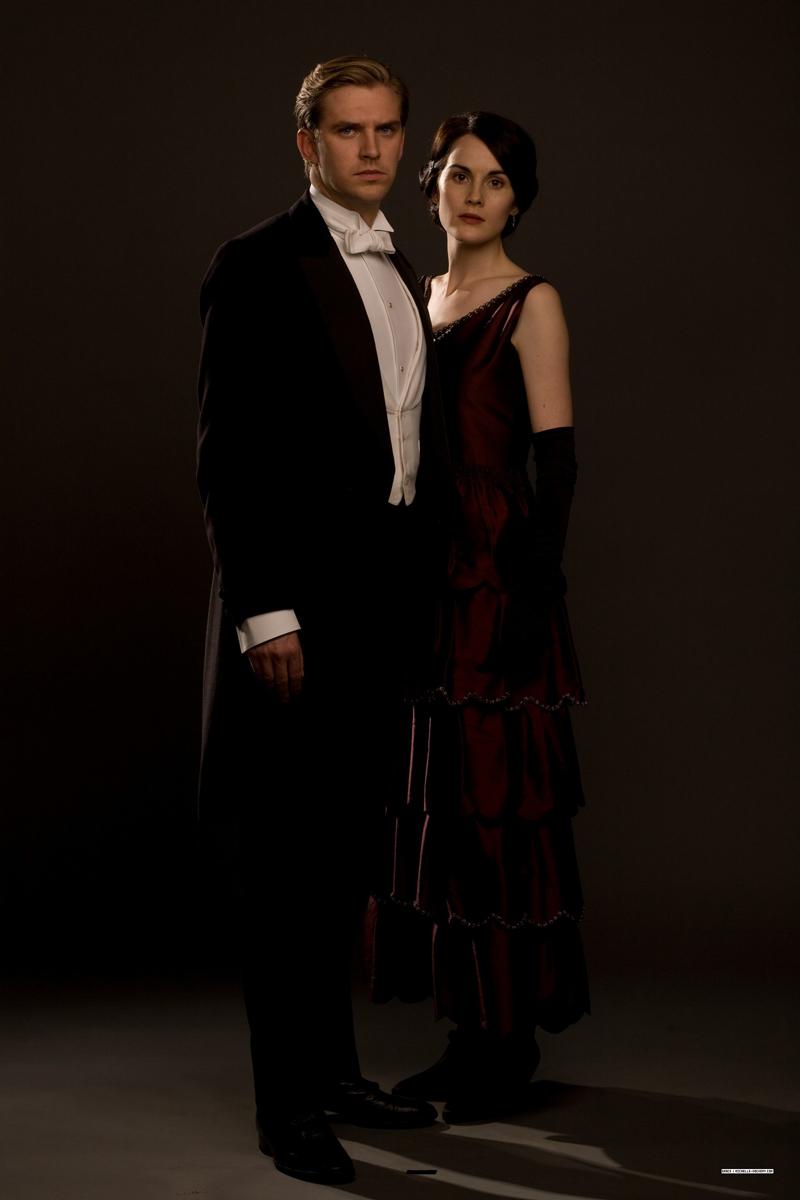 фото Мишель Докери Мэри Кроули и Мэтью муж Дэн Стивенс Аббатство Даунтон