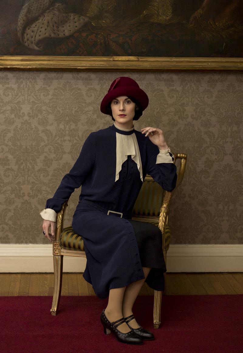 фото Мишель Докери Мэри Кроули Аббатство Даунтон платье наряды
