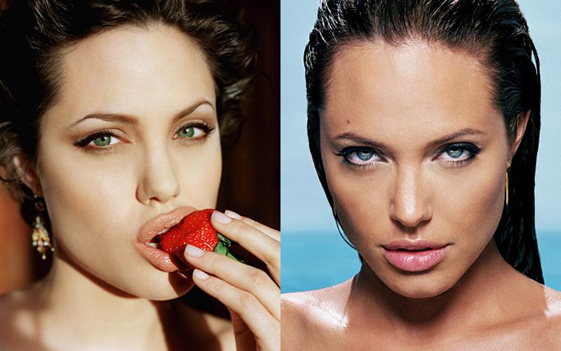 Самые красивые шикарные знойные и роковые и сексуальные брюнетки Голливуда Анджелина Джоли