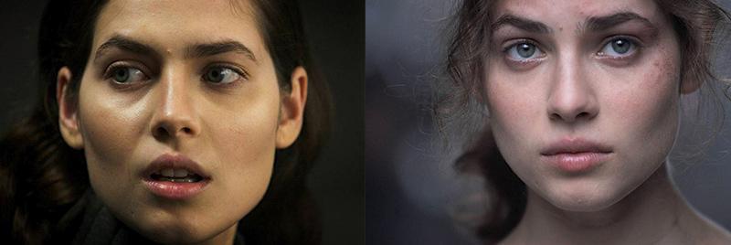 Юлия Снегирь актриса густые широкие черные невыщипанные брови знаменитостей