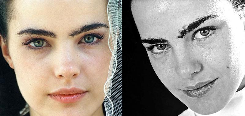 Ана Паула Арозио невыщипанные густые широкие черные брови знаменитостей