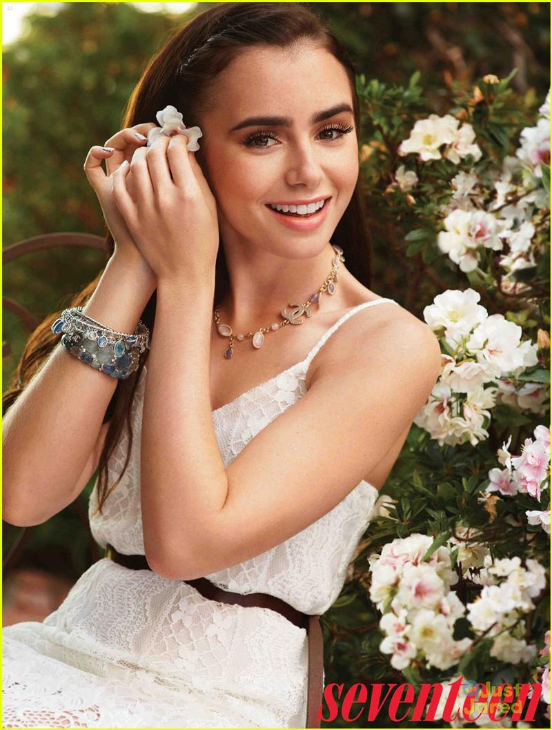 Лили Коллинз фото похожая в цветах с браслетом