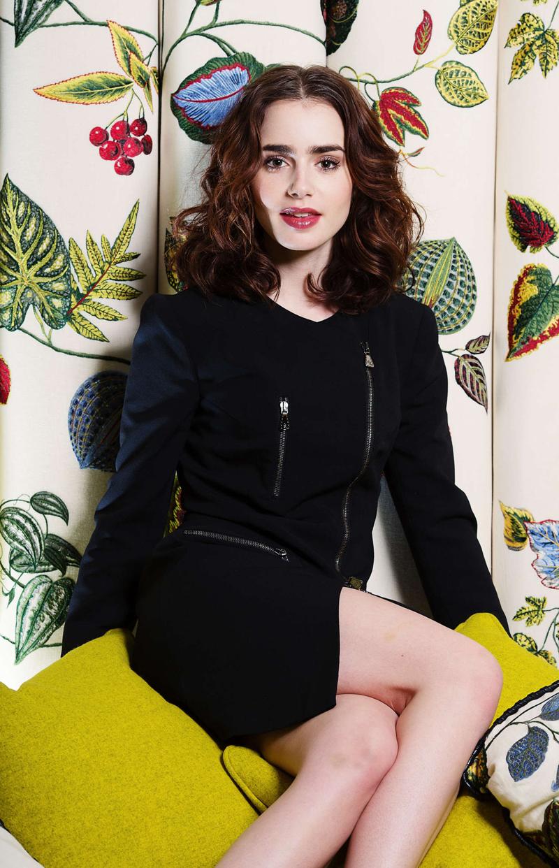 Лили Коллинз фото красивый портрет