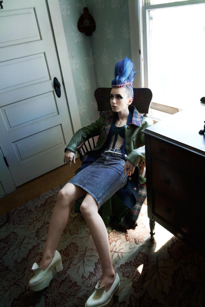Лили Коллинз фото и иракезом