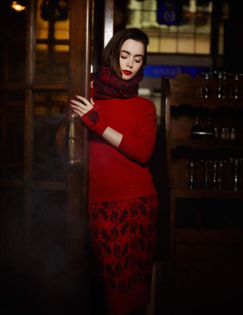 Лили Коллинз фотосесия
