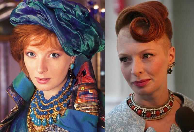 Амалия Мордвинова рыжая российская актриса с веснушками и кучерявыми волосами
