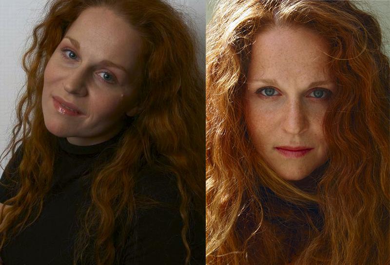 Агриппина Стеклова рыжая российская актриса с кучерявыми волосами