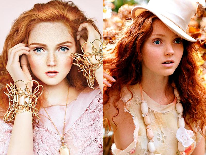 Лили Коул рыжая голливудская актриса с веснушками