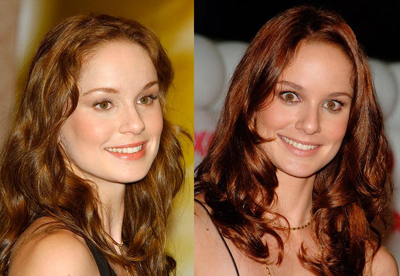 Сара Уэйн Кэллис перекрашенная в рыжий цвет актриса с рыжими глазами
