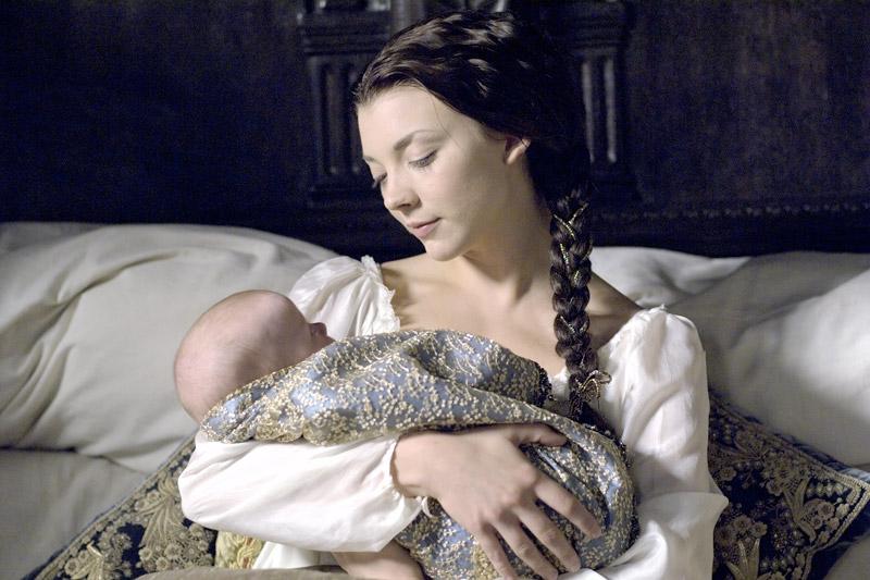 Анна Болейн с дочерью новорожденной Елизаветой