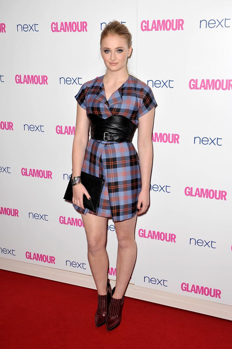 Софи Тернер Ежегодное Вручение наград «Женщина года» британского Glamour 2014