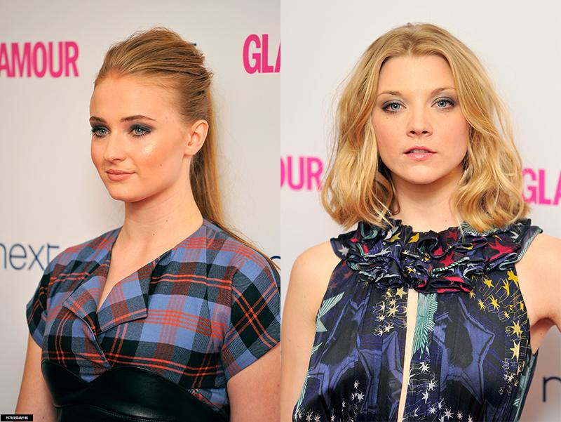 Софи Тернер и Натали Дормер Ежегодное Вручение наград «Женщина года» британского Glamour 2014