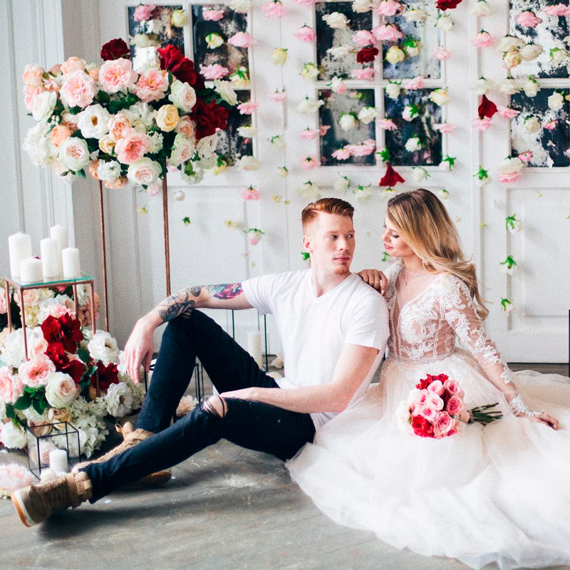 фотосессия со свадьбы преснякова и красновой сопровождается