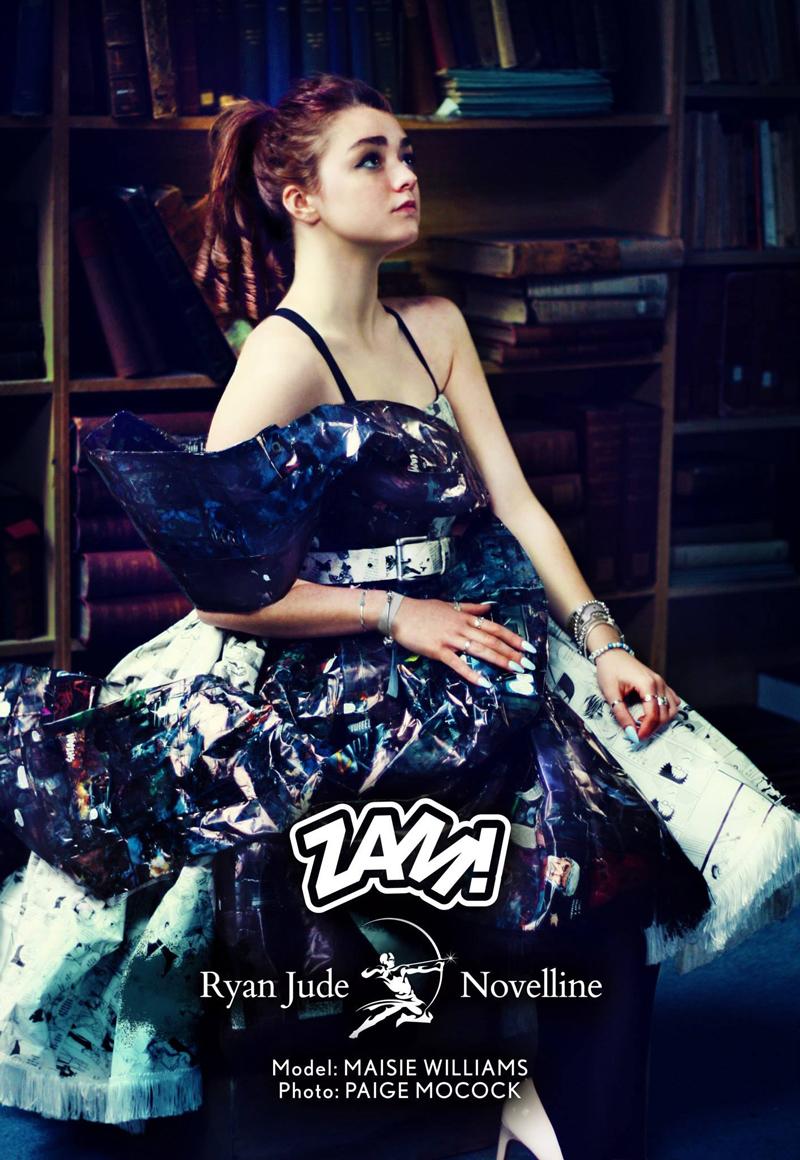 Мэйси Уильямс в платьях из книг диайнера Райана Джуда Novelline фотограф Paige Mocock