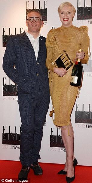 Гвендолин Кристи со своим мужчиной парнем