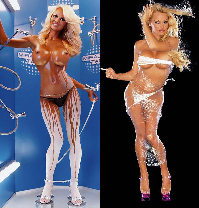 Памела Андерсон - сексуальная блондинка с силиконовой грудью