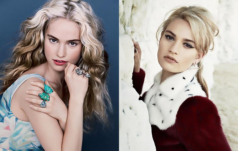 Лили Джеймс красивая английская актриса блондинка и еще 60 актрис