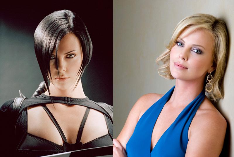 Шарлиз Терон из блондинки в брюнетку и еще 34 другие актрисы