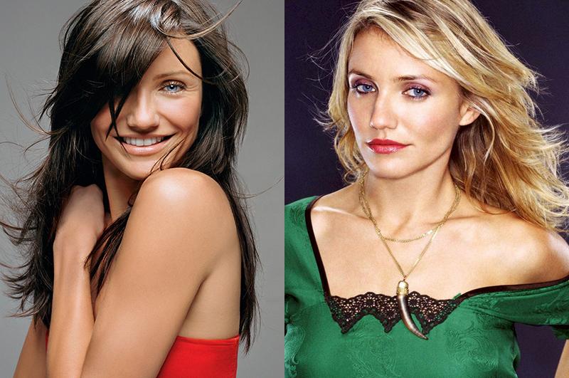Кэмерон Диаз из блондинки в брюнетку и еще 34 другие актрисы
