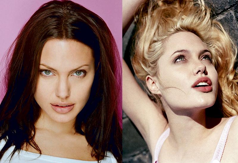 Анджелина Джоли из брюнетки в блондинку и еще 34 другие актрисы