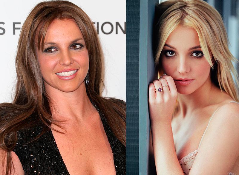 Бритни Спирс из блондинки в брюнетку и еще 34 другие актрисы