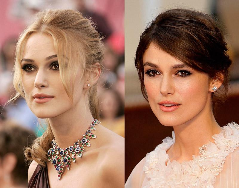 Кира Найтли из брюнетки в блондинку и еще 34 другие актрисы