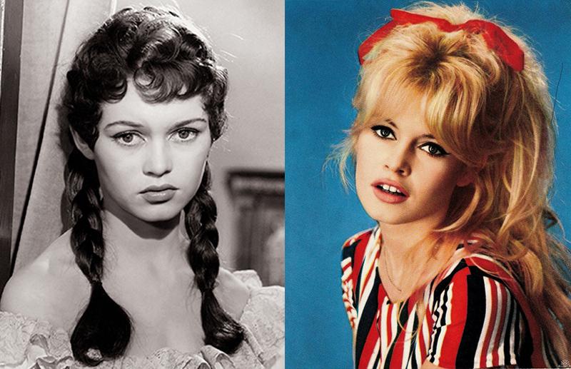 Бриджит Бордо из брюнетки в блондинку и еще 34 другие актрисы