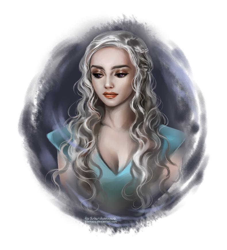 Дейнерис Таргариен кхалиси мать драконов арт иллюстрация