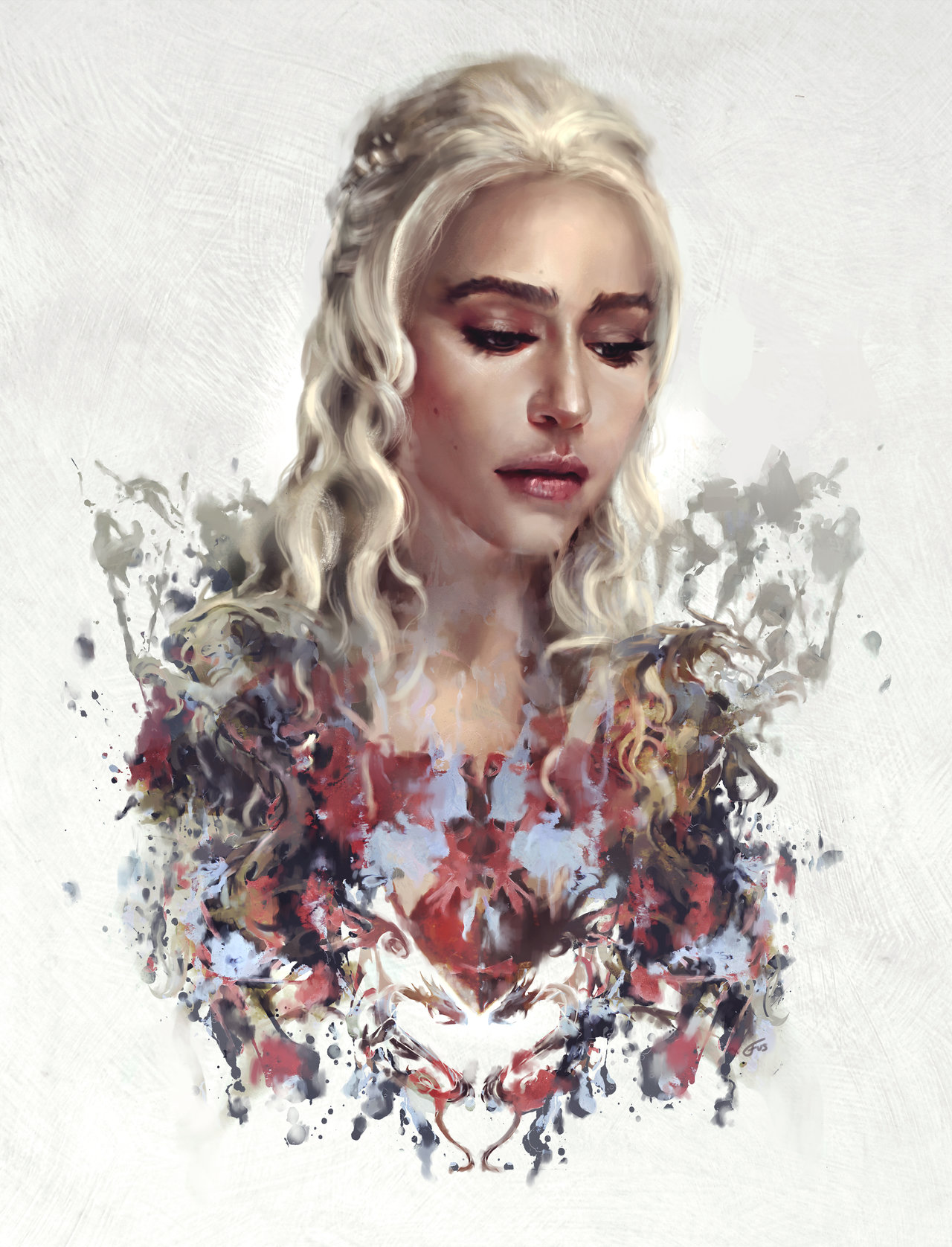 Дейнерис арт иллюстрация игра престолов