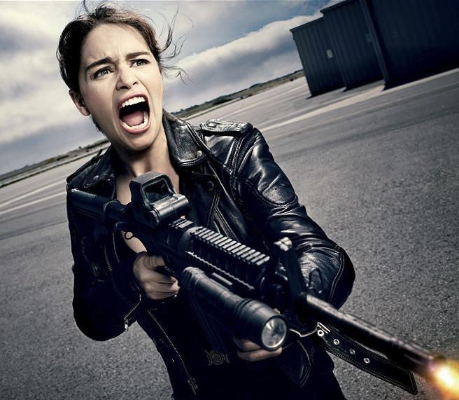 Эмилия Кларк в роли Сары Коннор Терминатор 5, 2015