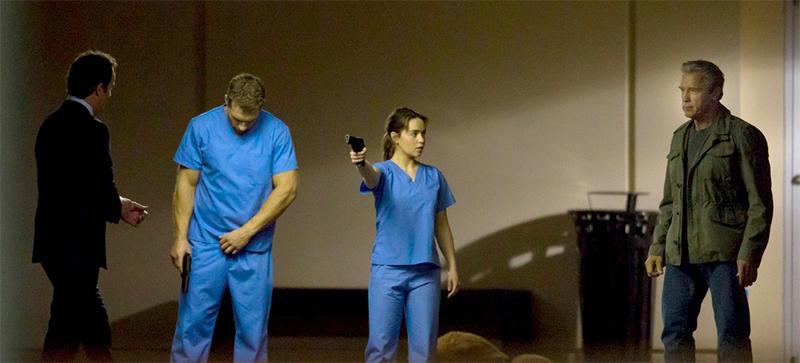 Терминатор 5 кадры со съемок Эмилия Кларк и Джай Кортни Арнольд Шварценеггер